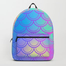 Blue Yellow Mermaid Tail Abstraction Backpack