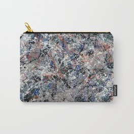 Number 3 Abstract Painting by Mark Compton Carry-All Pouch