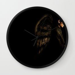 Winged Wall Clock