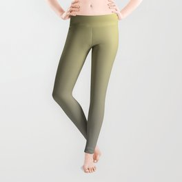 Yellow-Green and Grey Gradient Blend Pantone 2021 Color of the Year Ultimate Gray 17-5104 Leggings