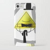 bill cipher iPhone & iPod Cases featuring Bill Cipher by Darkerin Drachen