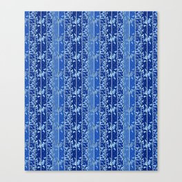 Abstract striped blue pattern. Canvas Print