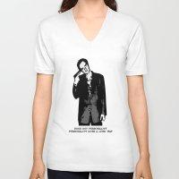tarantino V-neck T-shirts featuring TARANTINO by Rocky Rock
