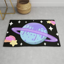 Melty Minty Planet Rug