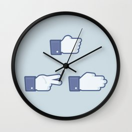 I Like Rock, Paper, Scissors Wall Clock