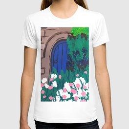 Blue Wooden Door  T-shirt