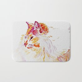 Siamese Kitty Cat watercolour by CheyAnne Sexton Bath Mat