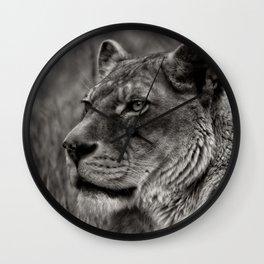 Lioness Portrait Wall Clock