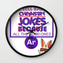 chemistry chemist gift substances substances funny Wall Clock