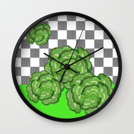 Lettuce, the queen of the table Wall Clock