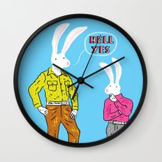 Hell Yes Wall Clock