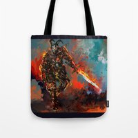 iron man Tote Bags featuring iron man by ururuty