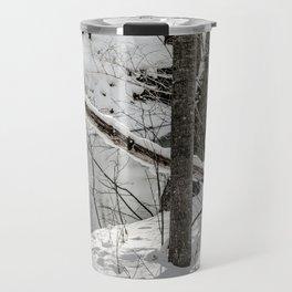 Winter Woods & Creek Travel Mug