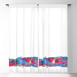 Multicolored Landscape Diptych Part 1 Blackout Curtain