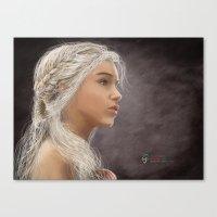 khaleesi Canvas Prints featuring Khaleesi by iPaints