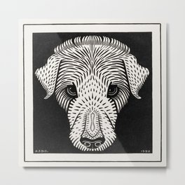 Julie de Graag - Dog's head Metal Print