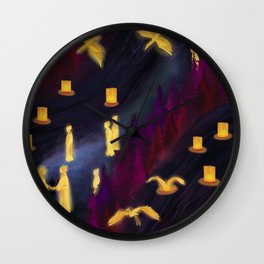Kubo Walpaper, digital painting Wall Clock