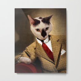 Boo conquers Hollywood - Cat Portrait Metal Print