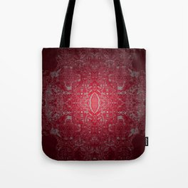 Ruby Red Lace Glow Tote Bag