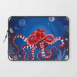 Red Octopus Laptop Sleeve