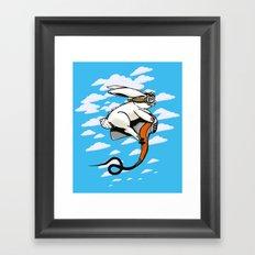 Hare Dryer Flyer Framed Art Print
