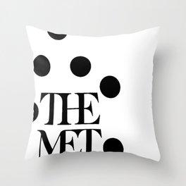 the meet Throw Pillow