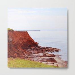 Red Cliffs and Blue Seas Metal Print