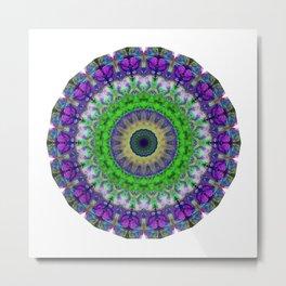 Green Light Mandala Art by Sharon Cummings Metal Print