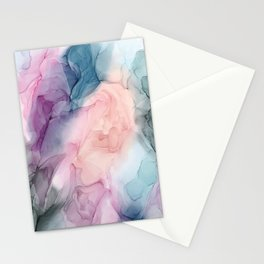 Dark and Pastel Ethereal- Original Fluid Art Painting Stationery Cards