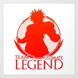 Team Ultimate Legend Art Print