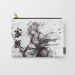 Samurai Girl with Japanese Calligraphy - Family - Ciri Parody Carry-All Pouch