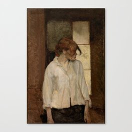 """Henri de Toulouse-Lautrec """"At Montrouge ( Rosa la Rouge)"""" Canvas Print"""