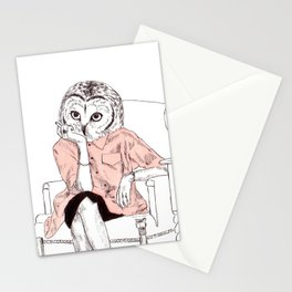 Bestial lonely lady Stationery Cards