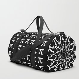 Math Geek Chic Number Pi In Red Black and White Duffle Bag