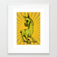 great dane Framed Art Prints featuring Great Dane by wahyudi77