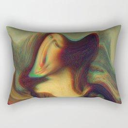mona lisa gioconda marble Rectangular Pillow