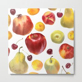 Watercolor frut Metal Print
