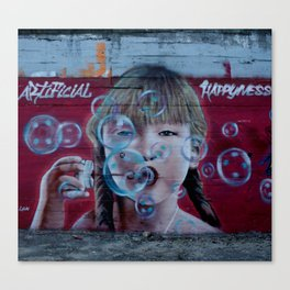 """Artificial Happyness"" Canvas Print"