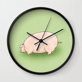 Fat Piggie Wall Clock