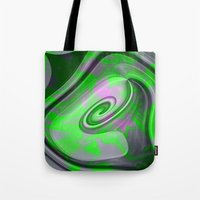 "malachite Tote Bags featuring "" Malachite ""  by shiva camille"