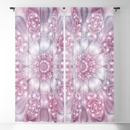 Dreams Mandala in Pink, Grey, Purple and White Blackout Curtain