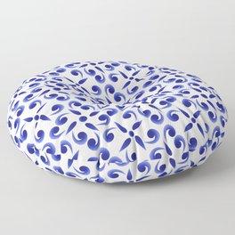 blue art Floor Pillow