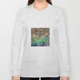 Modern Etching Abstract Design Long Sleeve T-shirt