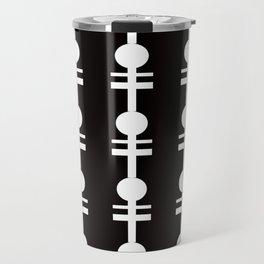 Pique (Black White Pattern) Travel Mug