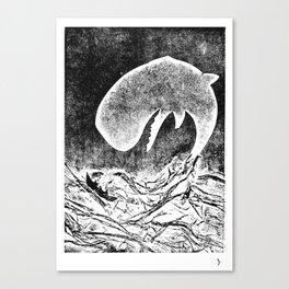 Whale hunt Canvas Print
