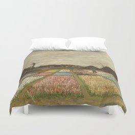 """Vincent van Gogh """"Bulb Fields, also known as Flower Beds in Holland"""" Duvet Cover"""