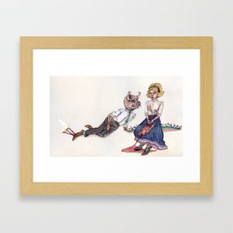 Barbecued Suckling Pig Framed Art Print