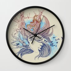 Tree Girl Wall Clock