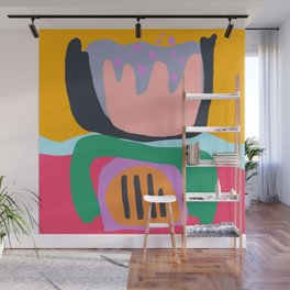 Shapes and Layers no.26 - Modern Abstract Flowers Wall Mural