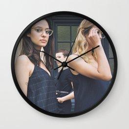 Women in Blue Wall Clock